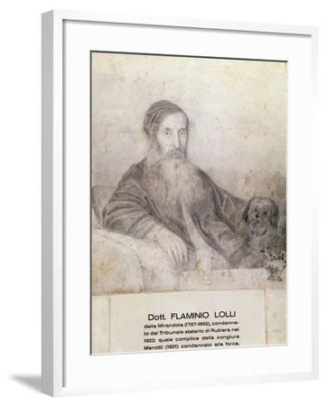 Portrait of Flaminio Lolli Della Mirandola, Involved in Menotti Conspiracy, 1831--Framed Giclee Print