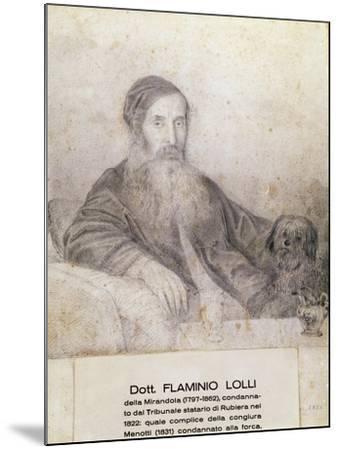 Portrait of Flaminio Lolli Della Mirandola, Involved in Menotti Conspiracy, 1831--Mounted Giclee Print