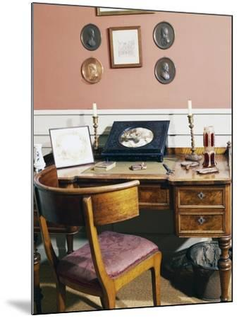 The Writer's Desk, Birthplace of Hans Christian Andersen, Odense, Syddanmark, Denmark--Mounted Giclee Print