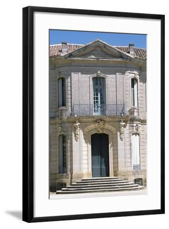 Chateau D'Angarran Main Facade, Near Laverune, Languedoc-Roussillon, Detail, France--Framed Giclee Print