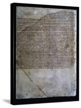 Inscription of Carmen Arvale, Chant of Arval Priests or Fratres Arvales, 218--Stretched Canvas Print