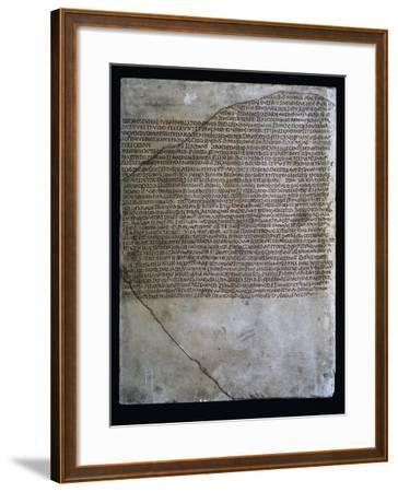 Inscription of Carmen Arvale, Chant of Arval Priests or Fratres Arvales, 218--Framed Giclee Print