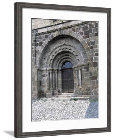 Door of Saint-Pierre Church, Arlempdes, Auvergne. France, 11th-16th Century--Framed Giclee Print