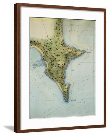 The Coast of Dakar, Senegal, from the Senegal Atlas, 1817--Framed Giclee Print
