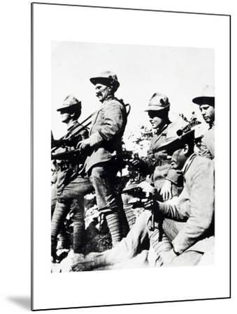 Czechoslovak Legionaries on Italian Front, Summer of 1918--Mounted Giclee Print