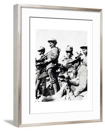 Czechoslovak Legionaries on Italian Front, Summer of 1918--Framed Giclee Print