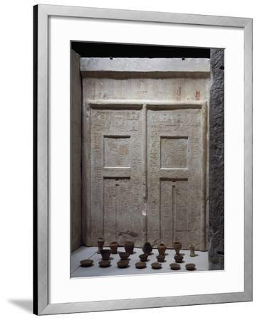 Miniature Pottery in Front of Chapel of Ky, Saqqara--Framed Giclee Print