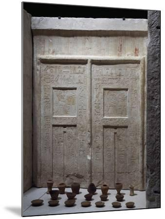 Miniature Pottery in Front of Chapel of Ky, Saqqara--Mounted Giclee Print