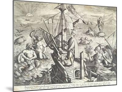 Amerigo Vespucci Sailing Towards America--Mounted Giclee Print