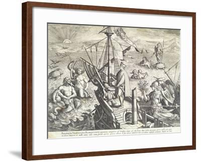 Amerigo Vespucci Sailing Towards America--Framed Giclee Print