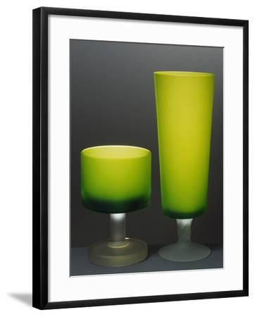 Glasses with Iced Stem, Ca 1935, Italy--Framed Giclee Print