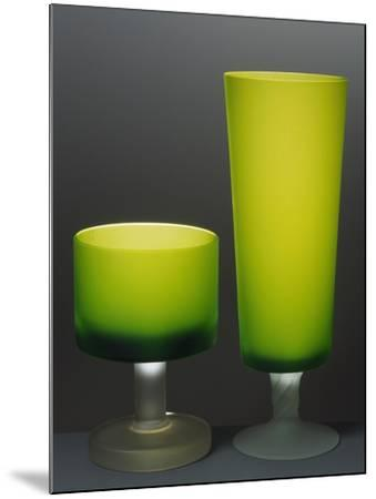 Glasses with Iced Stem, Ca 1935, Italy--Mounted Giclee Print