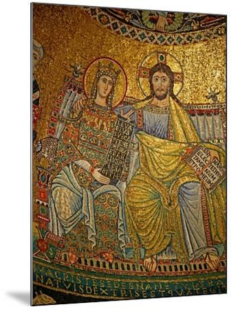 Mosaic in the Apse with Christ and the Virgin Mary--Mounted Giclee Print