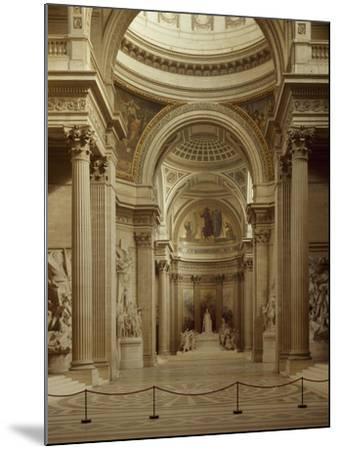 Interior of Pantheon in Paris--Mounted Giclee Print