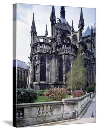 The Apse of Cathedral of Notre-Dame , Reims, France, 13th Century--Stretched Canvas Print