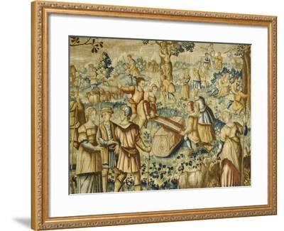 Rural Games, 16th Century Flemish Tapestry--Framed Giclee Print