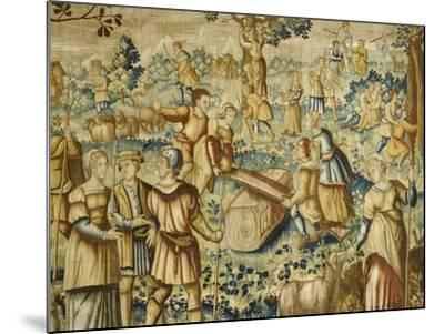 Rural Games, 16th Century Flemish Tapestry--Mounted Giclee Print