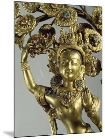 Queen Maya Gives Life to Future Buddha, Gilded Bronze Statue, Nepal, Nepalese Civilization--Mounted Giclee Print