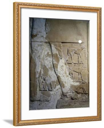Stele of Antef V, Detail--Framed Giclee Print