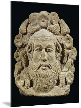 Antefix Depicting Silenus' Head Surrounded by Bunches of Grapes and Flowers--Mounted Giclee Print