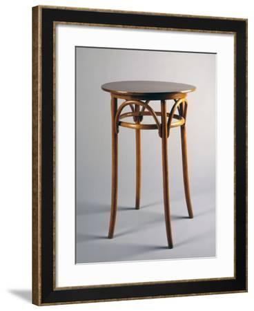 Thonet Style Table, 1920, Bentwood, Italy--Framed Giclee Print