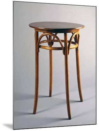 Thonet Style Table, 1920, Bentwood, Italy--Mounted Giclee Print