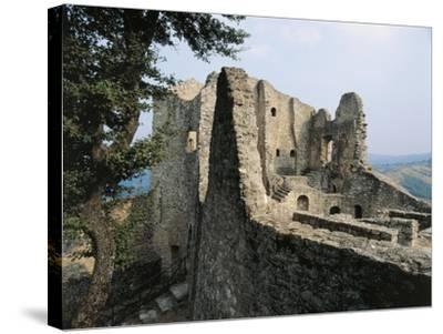 Ruins of Matilda of Canossa's Castle, Ciano D'Enza, Reggio Emilia, Emilia-Romagna, Italy--Stretched Canvas Print