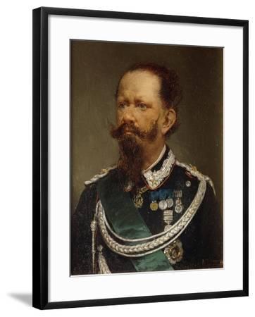 Portrait of Victor Emmanuel II, 1820 - 1878--Framed Giclee Print