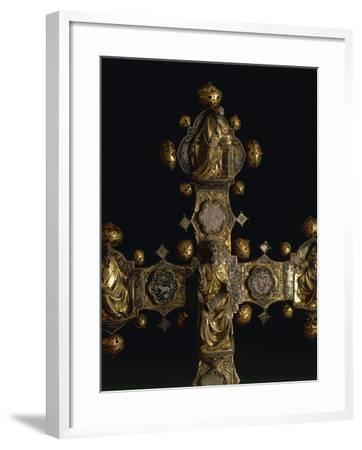 Processional Cross of Saint Maximus, in Silver, Enamel and Copper--Framed Giclee Print