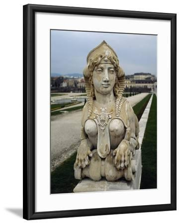 Sphinx at Gardens of Belvedere Palace, 18th Century, Vienna--Framed Giclee Print