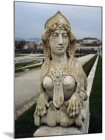 Sphinx at Gardens of Belvedere Palace, 18th Century, Vienna--Mounted Giclee Print