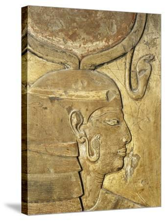Egypt, Thebes, Luxor, Valley of the Kings, Close-Up of Relief in Corridor Representing Isis--Stretched Canvas Print