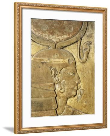 Egypt, Thebes, Luxor, Valley of the Kings, Close-Up of Relief in Corridor Representing Isis--Framed Giclee Print