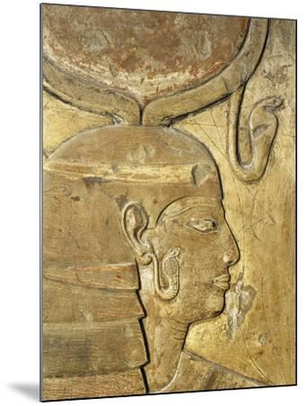 Egypt, Thebes, Luxor, Valley of the Kings, Close-Up of Relief in Corridor Representing Isis--Mounted Giclee Print
