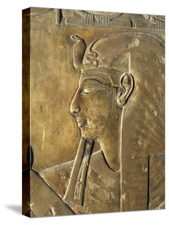 Egypt Valley of the Kings, Close-Up of Relief in Corridor Representing Pharaoh, Tomb of Seti I--Stretched Canvas Print