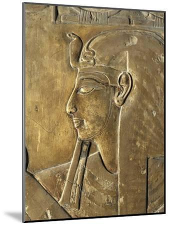 Egypt Valley of the Kings, Close-Up of Relief in Corridor Representing Pharaoh, Tomb of Seti I--Mounted Giclee Print