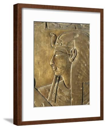 Egypt Valley of the Kings, Close-Up of Relief in Corridor Representing Pharaoh, Tomb of Seti I--Framed Giclee Print