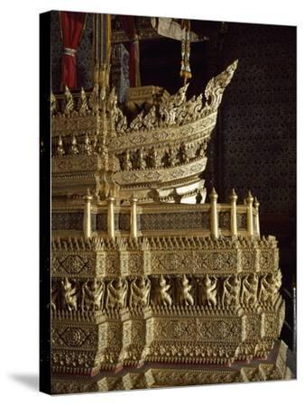 Throne, Detail of Decoration, Grand Palace, Bangkok, Thailand--Stretched Canvas Print