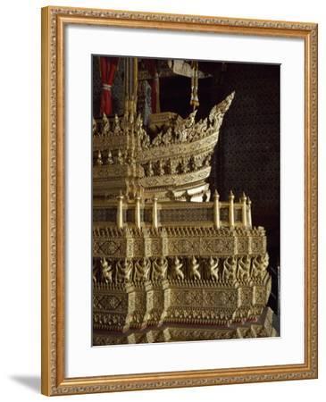 Throne, Detail of Decoration, Grand Palace, Bangkok, Thailand--Framed Giclee Print