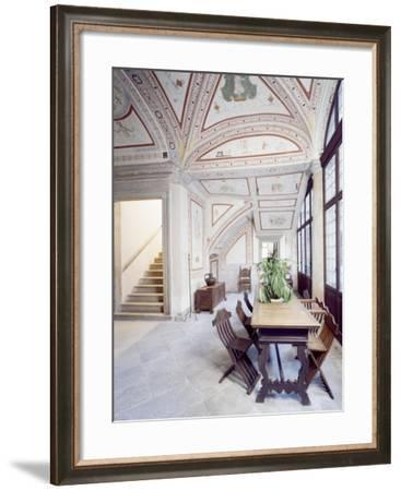 Italy, Piuro, Palazzo Vertemate Franchi, Bishop's Room Detail--Framed Giclee Print