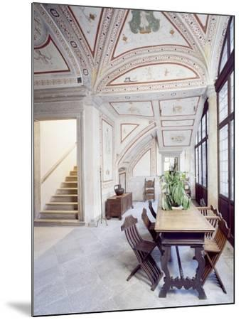 Italy, Piuro, Palazzo Vertemate Franchi, Bishop's Room Detail--Mounted Giclee Print