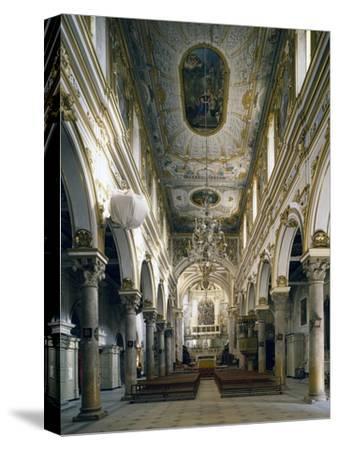 Cathedral of Matera, Interior, Basilicata, Italy--Stretched Canvas Print