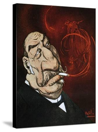 The Honourable Giolitti's Smoke, Satirical Cartoon from L'Asino Magazine, July 26, 1908, Italy--Stretched Canvas Print