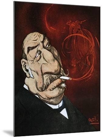 The Honourable Giolitti's Smoke, Satirical Cartoon from L'Asino Magazine, July 26, 1908, Italy--Mounted Giclee Print