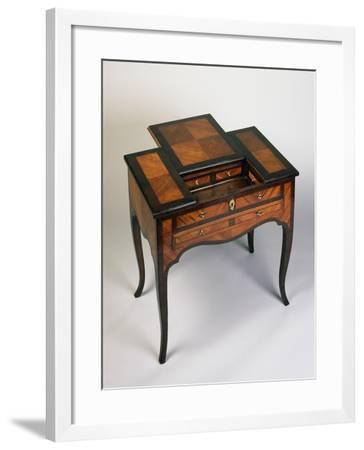 Rococo Style Writing Desk with Rosewood and Rose Veneer Finish, Venice, 1770, Italy--Framed Giclee Print