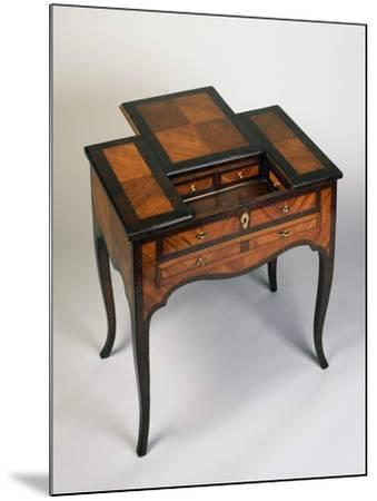 Rococo Style Writing Desk with Rosewood and Rose Veneer Finish, Venice, 1770, Italy--Mounted Giclee Print