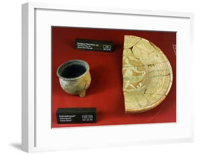 Aboa Vetus and Ars Nova, Ceramic Pieces, Right, German Dish of 1600--Framed Giclee Print