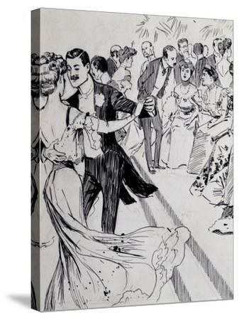 Viennese Waltz, Ink Drawing, Austria, Detail--Stretched Canvas Print