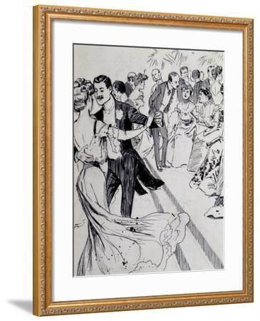 Viennese Waltz, Ink Drawing, Austria, Detail--Framed Giclee Print