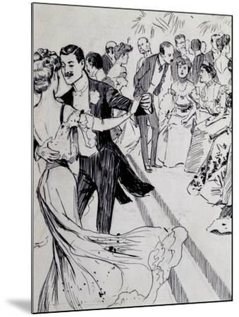 Viennese Waltz, Ink Drawing, Austria, Detail--Mounted Giclee Print